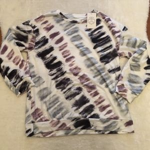 NWT Tie Dye Sweatshirt Lounge Top